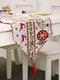 Chemin de table de bonhomme de neige de wapiti de Noël Joyeux décor de Noël pour des ornements à la maison - #04