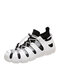 Women Sports Comfy Fashion Breathable Soft Comfy Knitted Fabric Sock Running Shoes Casaul Sneakers - White Black