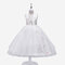 Girl's Floral Embroidered Gauze Princess Casual Dress for 6-13Y - White
