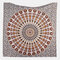 Printed Hanging Tapestry Indian Hippie Bohemian Psychedelic Peacock Mandala Wall Hanging - #2