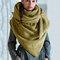 Женское Повседневная универсальная толстая теплая шаль с шарфом с пряжкой и принтом - Желтый