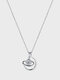Vintage Plated 925 Silver Women Necklace Zircon Asteroid Universe Pendant Clavicle Chain Jewelry Gift - Silver