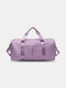Oxford Multifunction Dry Wet Separation Independent Shoe Position Waterproof Anti-Scratch Sports Gym Summer Travel Crossbody Bag - Violet