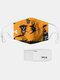 男性と女性7PCSPM2.5フィルターハロウィーンスタイルの印刷使い捨てではない通気性マスク - #01