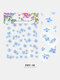 5D Colorful Flowers Embossed Decals Series Nail Stickers - #10