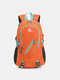 Nylon Fixed Trekking Pole Design 35L Large Capacity Wearable Breathable Anti-scratch Outdoors Backpack - Orange