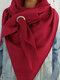 Femmes Dacron Solid Color Casual Épaissir Chaleur Écharpe Châle - Vin rouge