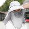 Mujer Protección de cara multifunción en color liso Tapa de cola de caballo Protector solar mantón UV Tapa de protección