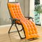 Cotton soft Seat Pad Replacement Cushion Pad Garden Sun Lounger Recliner Chair Cover - Orange