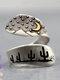 Vintage Desert Night Women Ring Adjustable Open Cactus Moon Sunrise Ring Jewelry Gift - #02