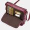 Mandy Women Multifunction Bag Solid Casual Crossbody Bag - Wine Red