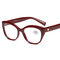 Women Vogue Light PC Anti-fatigue HD Full Frame Comfortable Cat Eye Reading Glasses