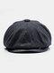 Uomo Plus Cappello ottagonale in cashmere tinta unita Cappello da esterno per il tempo libero Wild Forward Cappello piatto - Grigio scuro