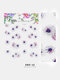 5D Colorful Flowers Embossed Decals Series Nail Stickers - #12