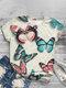 Butterflies Print O-neck Short Sleeve Plus Size T-shirt for Women - #05