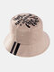 Cappello da pescatore unisex in cotone con stampa a lettera Modello in twill - Cachi