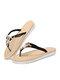 Pantofole infradito per vacanze casual con decorazione perline da donna - Nero