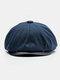 Uomo Plus Cappello ottagonale in cashmere tinta unita Cappello da esterno per il tempo libero Wild Forward Cappello piatto - Blu scuro