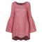 Flare Sleeve Maternity Casual O-Neck Comfy Blouse