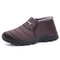 Men Stripe Soft Warm Plush Lining Ankle Boots