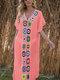 Women Weave Flower V-Neck Thin Sun Protection Cover Up Beach Maxi Dress - Orange