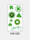 1Pc Irish Festival Waterproof Disposable Tattoos Stickers Four Leaf Clover Pattern Water Transfer Tattoo Stickers - #08