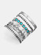 Vintage Turquoise Multi-layer Wide Ring Temperament Metal Crystal Ring - #01