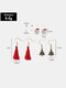 Christmas Women Earrings Set Christmas Tree Bells Tassel Pearl Ear Stud - #03