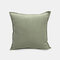 Solid Color Sofa Pillowcase Polyester Linen Creative Car Cushion Room Living Room Pillow - Light Green