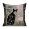 Retro Style Cats Leinen Baumwolle Kissenbezug Home Sofa Art Decor Throw Kissenbezug - #4