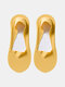 10 Pairs Women Cotton Ice Silk Solid Color Shallow Mouth Silicone Non-slip Invisible Boat Socks - Yellow