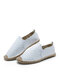 Special Bark PU Espadrillas Fisherman Shoes With Rubber Sole For Women - White