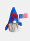 1PC American Independence Day Faceless Raising Flag Sitting Dwarf Gnome Children Doll Festival Gift - #01