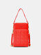 Casual Love Pattern Pocket Front 6.5 Inch Phone Bag Crossbody Bag Card Case - Red