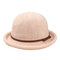 Cappello da pescatore a forma di fiocco semplice da donna Cappellino in ciniglia elegante e selvaggio Cappello regolabile confortevole - Rosa