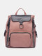 Casual Multi-pockets Zip Decor Large Capacity All-match Travel Backpack - Pink