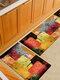 Pintura de acuarela Patrón Soft Puerta antideslizante Manta Alfombra Alfombra Alfombra de piso de cocina Interior al aire libre Decoración - #05