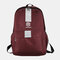 Men Oxford Cloth Large Capacity Casual Outdoor Students School Bag Backpack - Red
