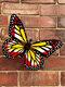 1 pieza de acrílico forjado mariposa hogar hardware para colgar en la pared artesanías Colgante decoración regalo hecho a mano para interior al aire libre decoración - rojo