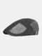 पुरुषों कपास चिथड़े रंग आकस्मिक फैशन Sunvisor फ्लैट टोपी आगे टोपी टोपी टोपी - धूसर