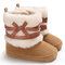 Baby Toddler Shoes Warm Lined Soft Hook Loop Snow Boots - Brown