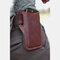 男性本革6.3Inchレトロショート携帯電話ケースベルトバッグ  - 赤