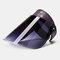Hollow Breathable Anti-UV Big Brim Cover Face Hat Sun Hat Empty Top Hat  - Purple