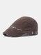 पुरुषों सूती ठोस रंग आकस्मिक फैशन Sunvisor फ्लैट टोपी आगे टोपी टोपी टोपी - कॉफ़ी