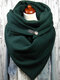 Women Solid Color Scarf Shawl Wrap Versatile Thick Warmth Shawl Scarf - Green