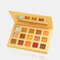 15 Colors Pearly Polarized Eyeshadow Palette Long Lasting Glitter Eyeshadow Matte Shimmer Palette - Yellow