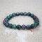 Bohemian Multicolor Crystal Beaded Bracelets Amethyst Elastic Rope Tassel Pendant Women Jewelry - #07