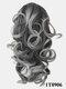 8 Colors Catch Clip Ponytail Hair Extensions Medium-Length Curly Chemical Fiber False Hair Pieces - #07