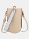 Casual Flower Print Pattern Wrist Band Stitch Detail Multi-slots Flap Magnetic Button 6.8 Inch Phone Bag Clutch Bag - Beige