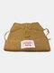 Men & Damen Cute Piggy Katze Ohren Plain Color Warm halten Winddicht gestrickt Hut - Khaki